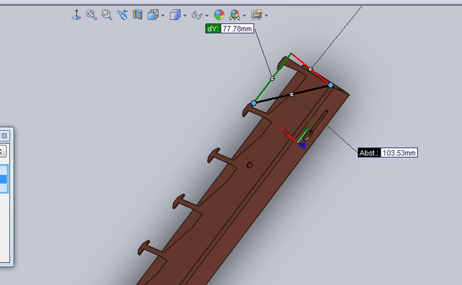 CAD-gestütztes designen der Bauteile für Genauigkeit