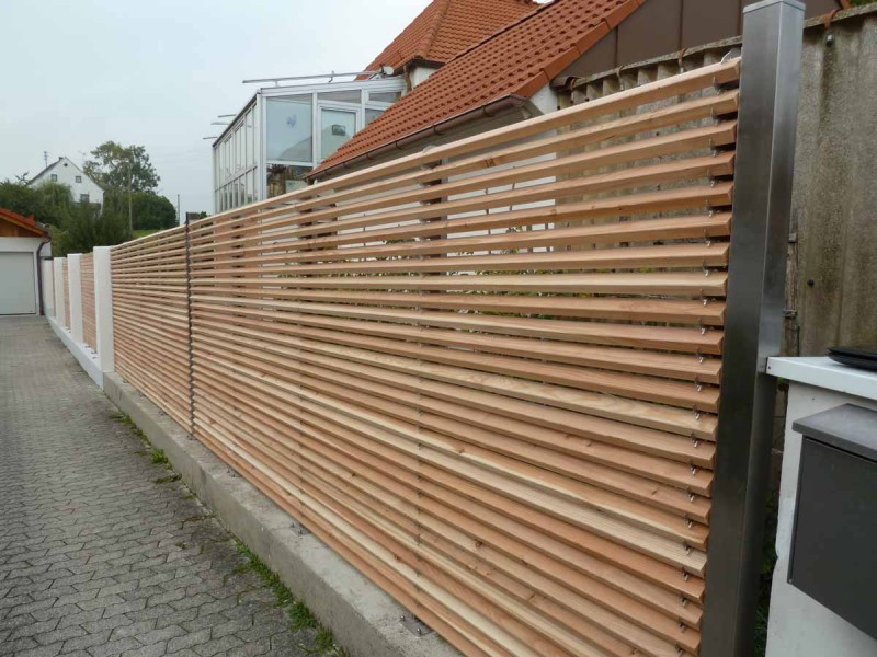 Galerie lignum linearis - Holzzaun modern ...