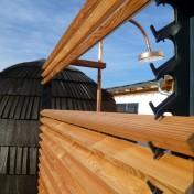 Dusche und Sichtschutz Sauna RAL7016 Lärche (11)