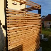 Dusche und Sichtschutz Sauna RAL7016 Lärche (12)