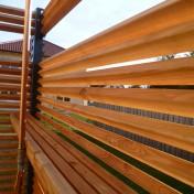 Dusche und Sichtschutz Sauna RAL7016 Lärche (3)