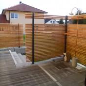 Dusche und Sichtschutz Sauna RAL7016 Lärche (4)