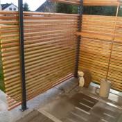 Dusche und Sichtschutz Sauna RAL7016 Lärche (5)