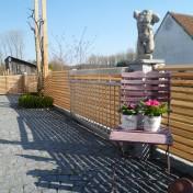 Gartenzaun mit Schräge und Türe (1)