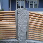 Gartenzaun mit Schräge und Türe (11)