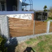Gartenzaun mit Schräge und Türe (13)