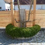 Gartenzaun mit Schräge und Türe (2)