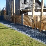 Gartenzaun mit Schräge und Türe (5)