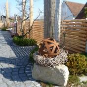 Gartenzaun mit Schräge und Türe (7)