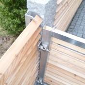 Gartenzaun mit Schräge und Türe (8)