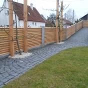 Gartenzaun mit Schräge und Türe (9)